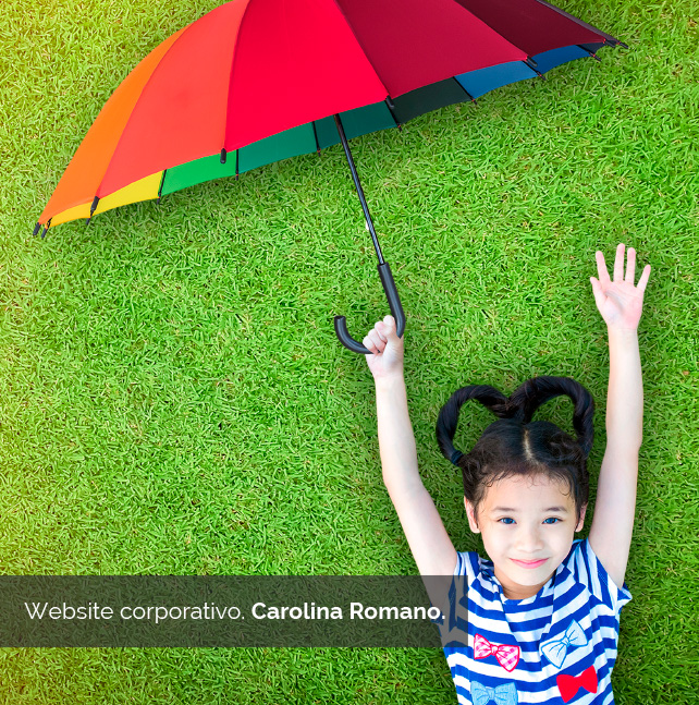 website Corporativo. Carolina Romano | Bingin Design. Diseño y desarrollo web en Fuerteventura.