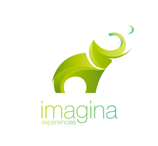 Logotipo de Imagina Experiencias. Bingin Design.