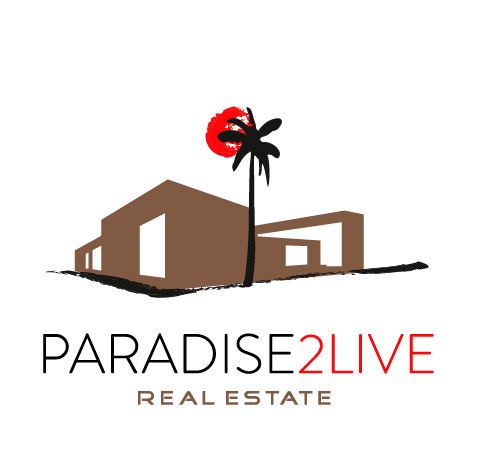 Logotipo de Paradise2Live. Bingin Design.