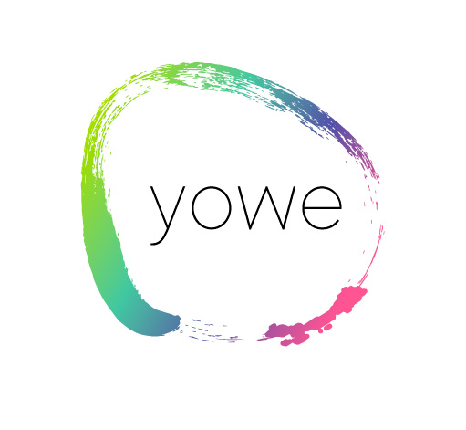 Logotipo de Yowe Yoga. Bingin Design.