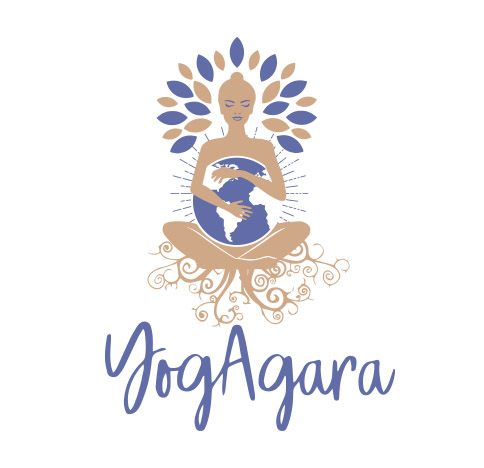 Logotipo de Yogagara. Bingin Design.
