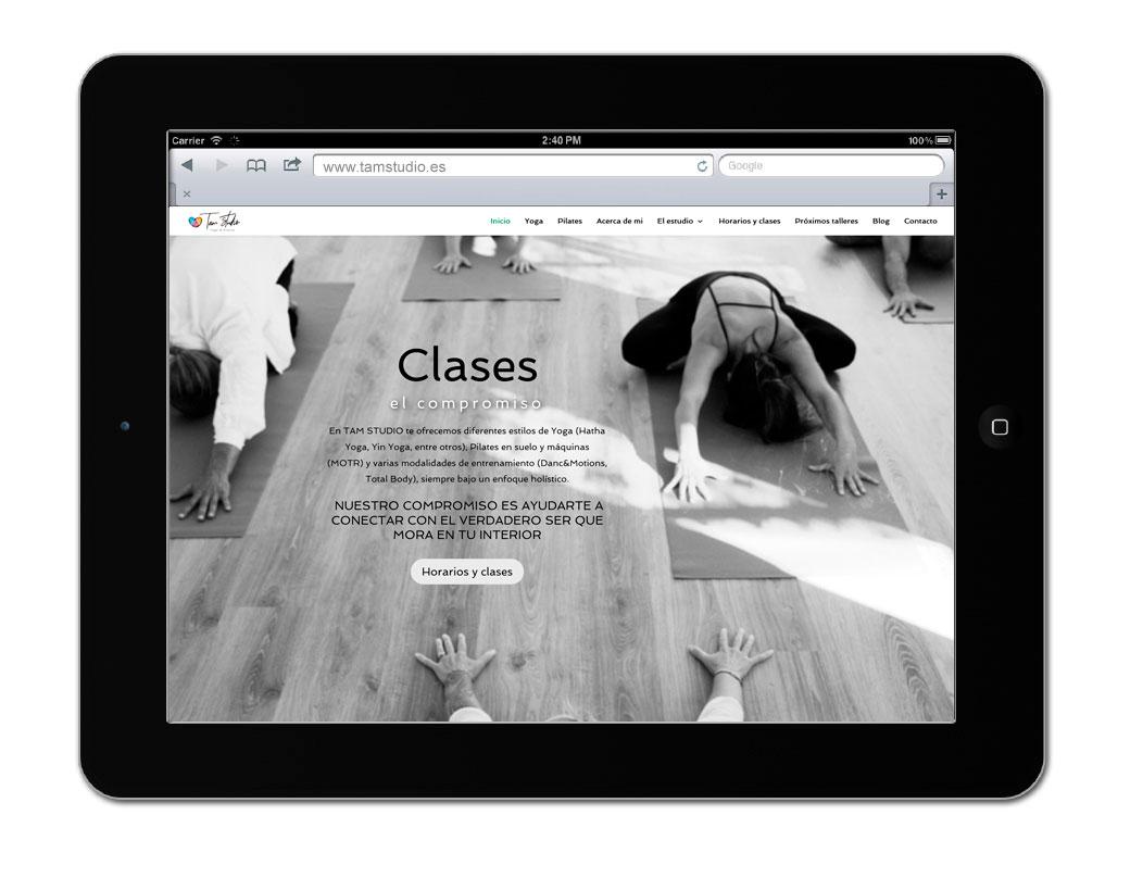 Diseño de website corporativo para Tam Studio | Bingin Design