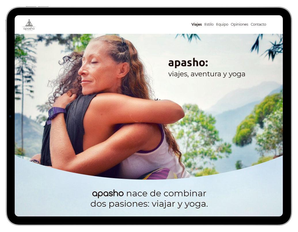 Diseño de Web Corporativa para Apasho yoga | bingin Design