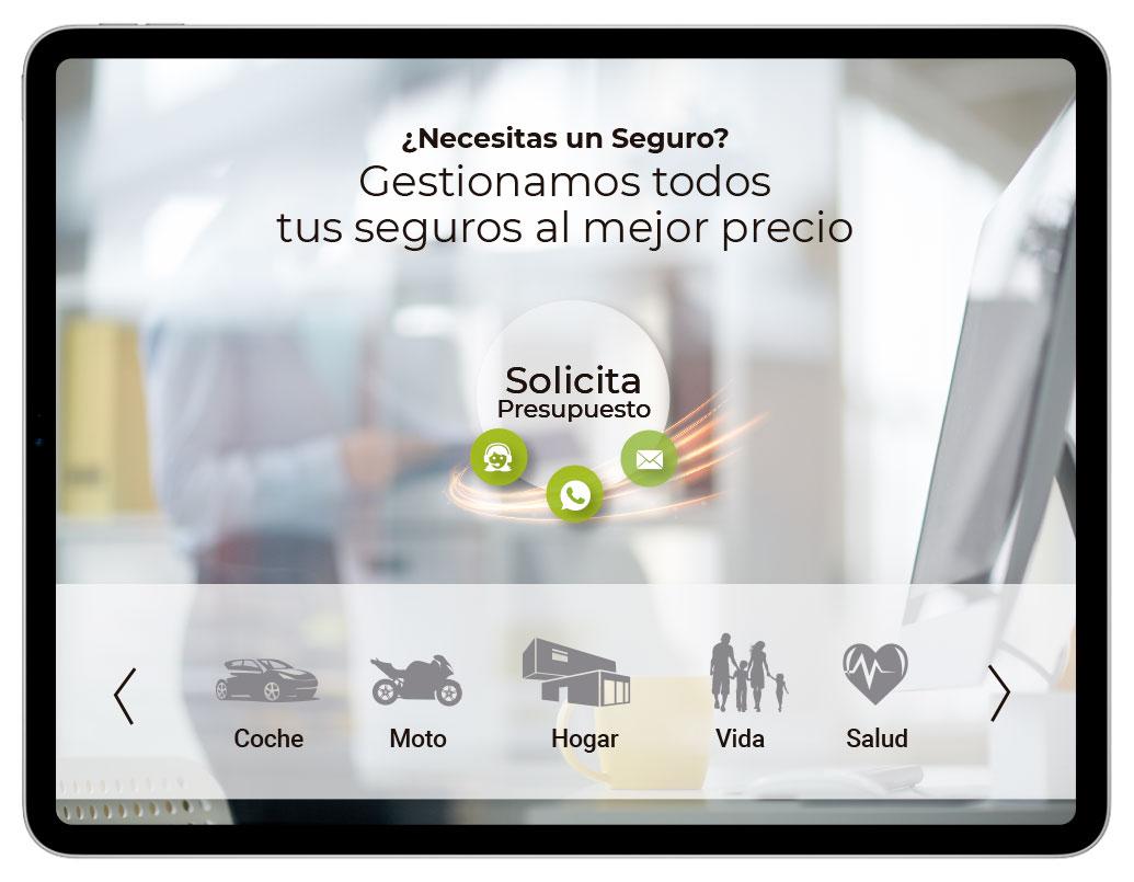 Diseño de Web Corporativa para PBF Seguros | bingin Design