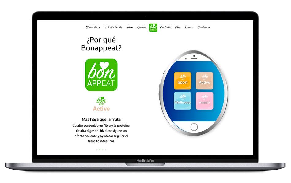 Diseño de Web Corporativa para Bonappeat| Bingin Design